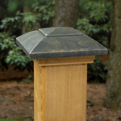 Deckorators 141632 4x4 OILED BRONZE POST CAP TREATED CAPUCHON DE POTEAU HUILE