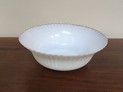 "MacBeth Evans PETALWARE Monax White with Gold Trim 8"" Large Fruit Bowl"