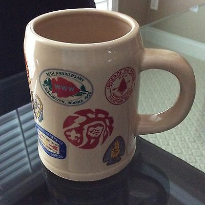 Vintage Retro Boy Scout Coffee Mug National Conference 17 Arrow Patches 1948 On