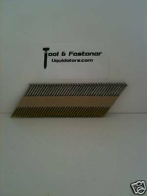 """2-3/8"""" Ring (316) Stainless Steel Paper Tape Framing Nails Fits Paslode, Senco"""