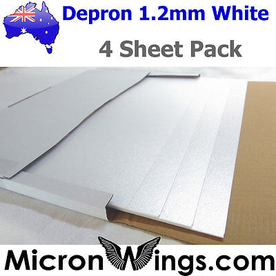 DEPRON FOAM PACK - 1 2mm White (box of four sheets) - £12 25