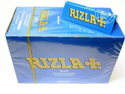 Rizla Blue Rolling Paper Full Box Of 100 Booklets Single Size