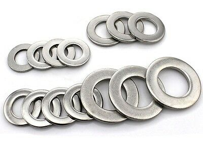 New 20Pcs M1.6- M16 Flat Washers 304 Stainless Steel DIN125 Penny Repair Washers