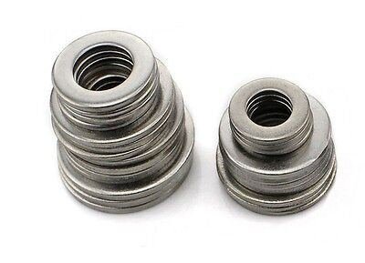 New100Pcs M1.6- M16 Flat Washers 304 Stainless Steel DIN125 Penny Repair Washers