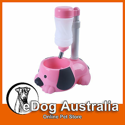 Clearance-AUTOMATIC PET DOG CAT FEEDER WATER BOWL - ** BLUE
