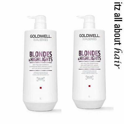 Goldwell Dualsenses Blondes & Highlights Shampoo and Conditioner 1lt Duo Blonde