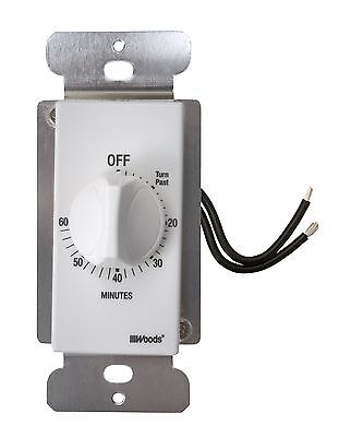 Woods 59717 60-Minute In-Wall Spring Wound Countdown Timer Mechanical Switch ...
