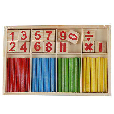 Baby Wooden Counting Math Game Mathematics Toys Stick S*