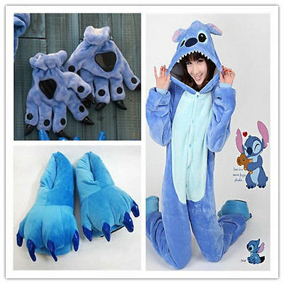 Unisex Adult Kids Pajamas Kigurumi Cosplay Dress Animal ONESIE1 Sleepwear Stitch
