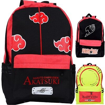Naruto Akatsuki Tokyo Ghoul Fairy Tail One Piece Vocaloid cosplay bag backpack