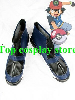 Pokemon Pocket Monster Digital Monster Ash Ketchum Cosplay Shoes boots #PP020