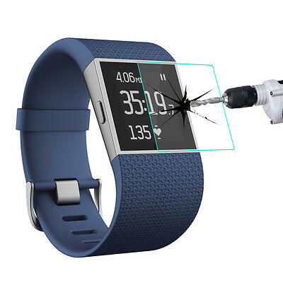 Premium Tempered Glass Screen Protector film for Fitbit Surge Fitness Smartwatch