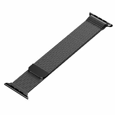 Black Milanese Magnetic Loop Watch Band for Apple Watch iWatch  42mm