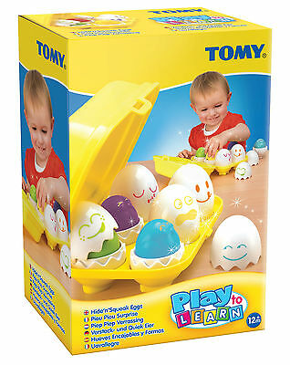 TOMY Play to Learn Hide Squeak Eggs Babies Baby Toddler Toy
