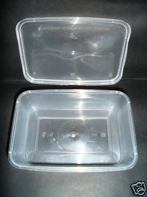 50 x Microwave Containers & Lids C500 CATERING TAKEAWAY FAST FOOD HOT (0201/5)