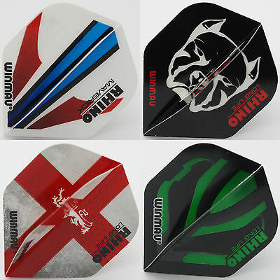 Winmau Rhino standard shape dart flights - 3 SETS INCLUDED