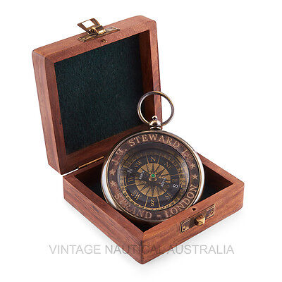 Compass - JH Steward London Classic Vintage  (Rosewood Box)