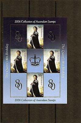 2006 Queens 80th Birthday Mini Sheet MNH, Only Found In 2006 Year Book