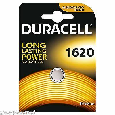 20 x Duracell Batterie CR1620 Lithium 3V Knopfbatterie CR 1620 Knopfzelle Auto