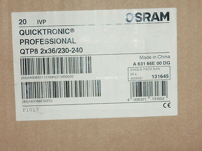 OSRAM Quicktronic Electronic Ballast T8 tube 2x36W QTP8
