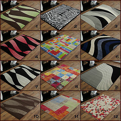 Modern Large Alpha Multi Colour Grey Black  Extra Large Area Clearance Rugs