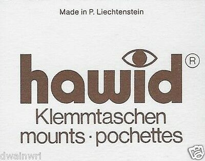 Hawid #72 mm Top Opening Stamp Mounts (Made in Liech) 10 Black strips - 66% OFF