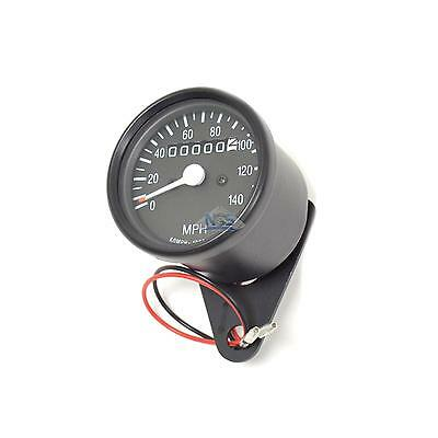 Mini Universal Black Motorcycle Mechanical 140 MPH Speedo Speedometer Gauge 2:1