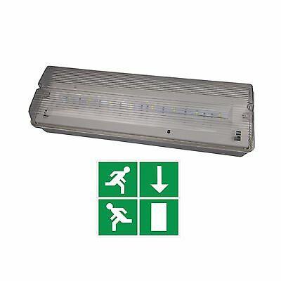 Led Emergency 4.5 Watt Bulkhead Lighting Ip65 Switched Maintained/non Maintained