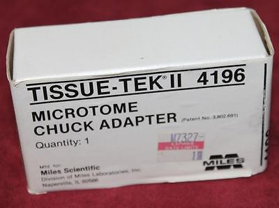 New Tissue-Tek II 4196 Microtome Chuck Adapter NIB Microscope Free Shipping!