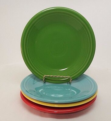 Fiestaware mixed colors Salad Plate Lot of 4 Fiesta 7.25 small plate 4C3M7