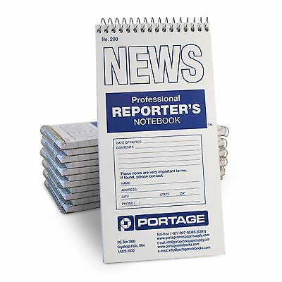 "Portage Reporter's Notebook (12 Pack) Gregg Ruled, 70 4x8"" Sheets"
