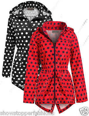 NEW Girls Raincoat Mac Girl Cagoule Shower Proof Jacket Age 7 - 13 Years Spot