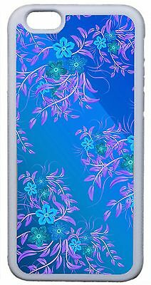 Floral Pattern Summer Flowers Latest Trend White Case Cover iPhone 4s 5 5s 5c 6