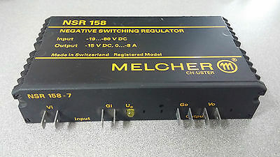 Lot of (2) Melcher NSR 158 Negative Switching Regulator USED