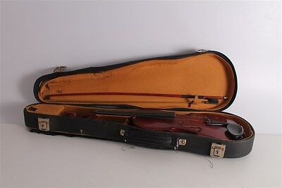 Antique Vintage Old Bulgarian Made Cremona Strativarious Copy Violin With Case.