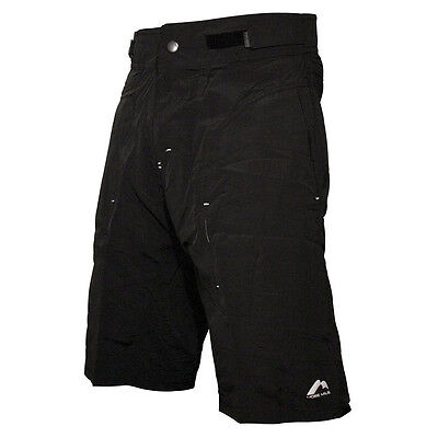 More Mile Mens Baggy Padded Cycling Shorts with Under Shorts Mountain Bike MTB