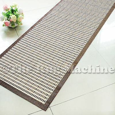 PATIO INDOOR/OUTDOOR BEIGE BROWN MODERN FLOOR RUG RUNNER 80x340cm **NEW**