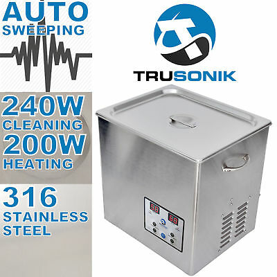 New Stainless Steel 10L Liter Industry Heated Ultrasonic Cleaner Heater Timer .