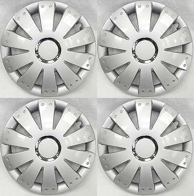 "Set of 4 14 Inch 14"" Hub Cap Wheel Trims for Ford Fiesta MK 5 2001 to 2008 JP14"