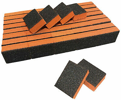 40pcs Disposable 80/80 Black Grit Orange Sanding Mini Small Buffer Blocks lot