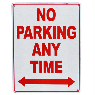 WARNING NOTICE SIGN NO PARKING ANY TIME PROPERTY 225x300mm Metal 16003012