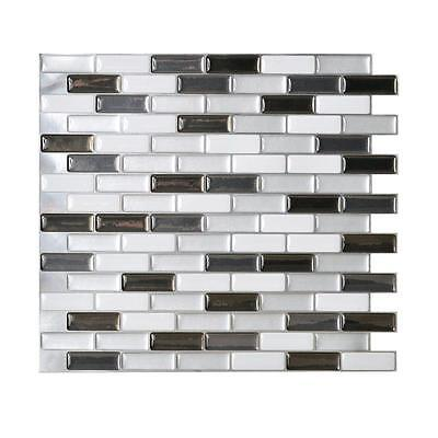 Smart Tiles SM1030-6 SELF-ADHESIVE WALL TILES 6/SHEET MURANO METALLIK 3.84 sq/ft