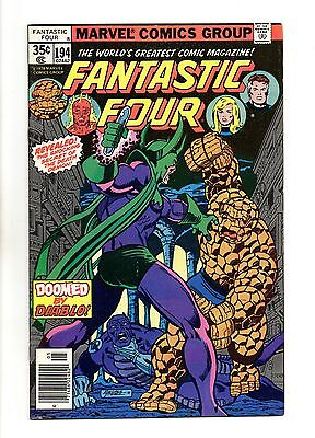 Fantastic Four Vol 1 No 194 May 1978 (VFN+) Marvel, Bronze Age (1970 - 1979)