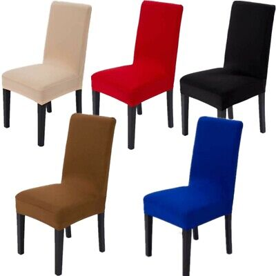 Stretch Spandex Dining Chair Seat Cover Slipcovers Wedding Party Decor 2/4/6pcs