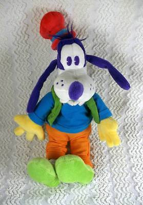 Disney Parks RARE Purple & Green Goofy Colorful Character Plush Toy Doll NWTags