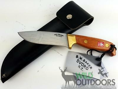 "Svord Knives - DELUXE SPORTING KNIFE - Drop Point 4 3/4"" - Mahogony and Brass"