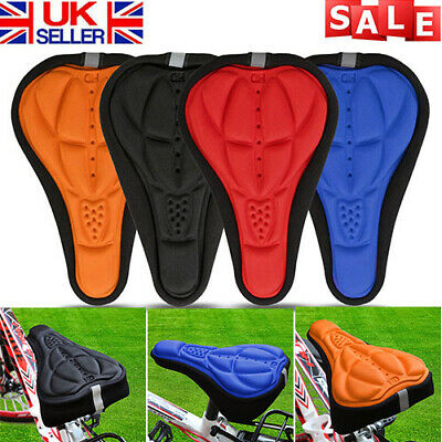 3D Gel Silicone Bike Bicycle Cycling Extra Comfort Saddle Seat Pad Cushion Cover