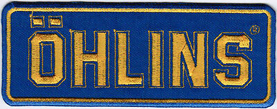 Ohlins Car Motorcycle Racing Badge Iron On Embroidered Patch