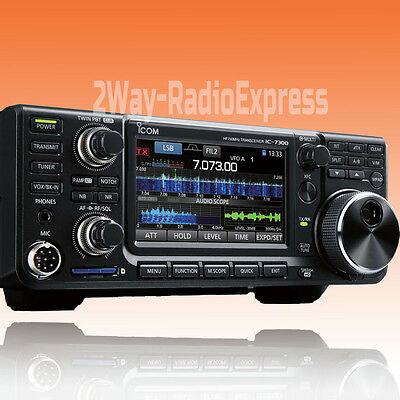 ICOM IC-7300 HF-6m-4m SDR Transceiver, Real Time Scope, Auto Tuner, Touch Screen