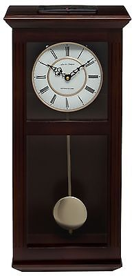 Fox And Simpson Ashton Walnut Solid Wood Westminster Chime Pendulum Wall Clock